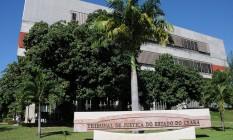Gabinetes no Tribunal de Justiça do Ceará estiveram entre os locais examinados pelos agentes Foto: Divulgação