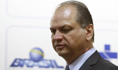 Ricardo Barros, ministro da saúde Foto: Jorge William / Agência O Globo