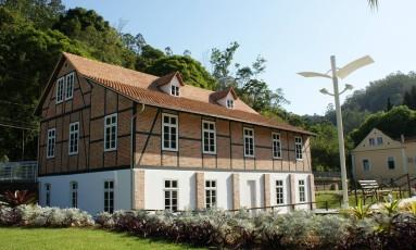 A casa do século XIX em estilo enxaimel abruga o Museu Hering, em Blumenau Foto: Divulgação / Charles Steuck