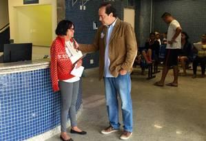 Osorio visitou o Hospital Municipal Albert Schweitzer nesta quarta-feira e conversou com funcionários e pacientes Foto: Guilherme Ramalho