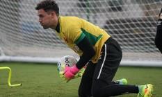 Goleiro Martín Silva no treino do Vasco na terça-feira Foto: Divulgação Vasco