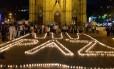 Em 2014, colombianos fazem pedido por fim de conflitos armados no país Foto: DIANA SANCHEZ / AFP