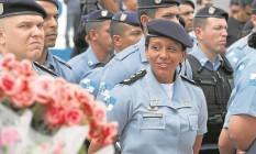 A major Pricilla Azevedo ao assumir o comando da UPP da Rocinha: combate ao crime Foto: Bruno Gonzalez