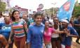 ACM Neto (DEM), candidato à prefeitura de Salvador, visitou a comunidade do Arraial do Retiro durante a campanha