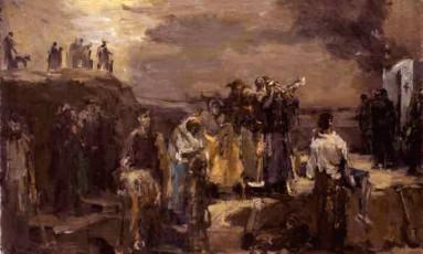 A tela 'Execução: Babi Yar', do pintor judeu russo Felix Lembersky Foto: Reprodução da web/Wikipedia