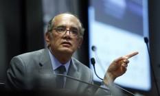 Ministro do Supremo Tribunal Federal, Gilmar Mendes Foto: Edilson Dantas / Agência O Globo