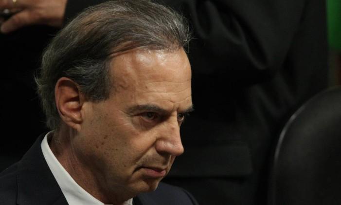 O lobista Adir Assad em depoimento à CPI do Cachoeira Foto: André Coelho 28-08-2012 / Arquivo O Globo