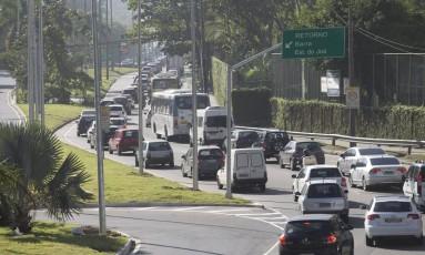 Autoestrada Lagoa-Barra, em São Conrado, sentido Zona Sul teve aumento da velocidade média Foto: Márcia Foletto / Agência O Globo