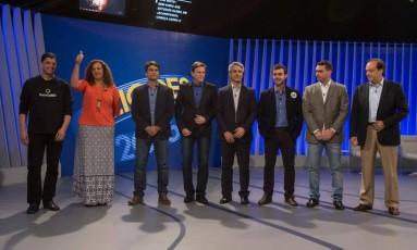 Debate dos candidatos a prefeito da cidade do Rio de Janeiro na TV Globo Foto: Alexandre Cassiano/O Globo