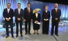 João Doria, Celso Russomano, Fernando Haddad, Luiza Erundina, Marta Suplicy e Major Olímpio Foto: TV Globo