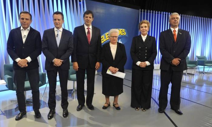 O debate promovido pela TV Globo em São Paulo foi marcado por uma sucessão  de dobradinhas entre candidatos que tentam chegar ao segundo turno e o  líder nas ... aea0899a2847c