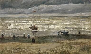 'Paisagem marinha em Scheveningen', de Van Gogh Foto: Reprodução