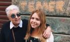 """Sofia Frank com a avó, Cidinha Campos (PDT), em post na internet: """"Não tem drama"""" Foto: Reprodução Facebook"""