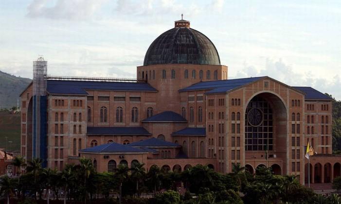 Basílica de Aparecida, no estado de São Paulo Foto: Divulgaçao