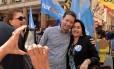 O candidato do PSDB à prefeitura de Porto Alegre, Nelson Marchezan Júnior, durante atividade de campanha Foto: Reprodução/Facebook