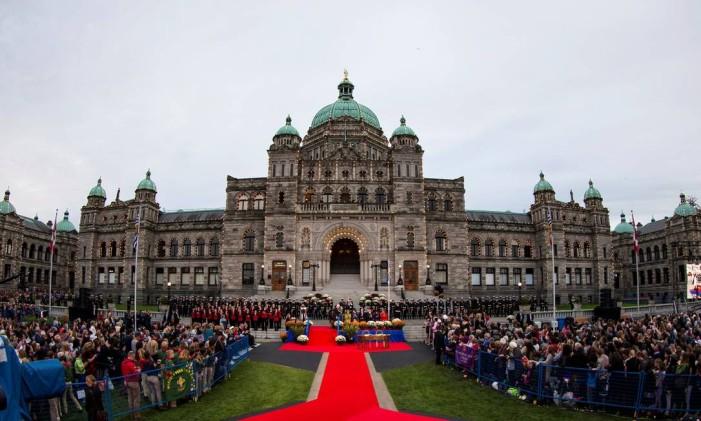 O Parlamento de Victoria, onde o príncipe William e Kate Middleton foram recebidos Foto: Kevin Light / Reuters