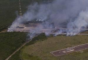 Foguete brasileiro explode na Base Especial de Alcântara, no Maranhão, em 2003; 21 pessoas foram mortas Foto: Divulgação/23-8-2003