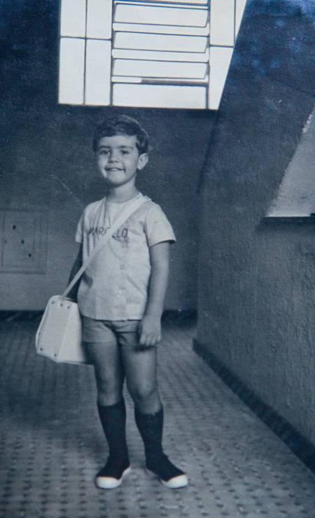 Marcelo Freixo de uniforme escolar, quando criança Foto: Arquivo pessoal