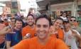 Léo Moraes (PTB), candidato à prefeitura de Porto Velho, durante atividade de campanha Foto: Reprodução/Facebook