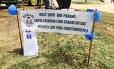 Ao lado de urna, faixa anuncia plebiscito informal de separação dos estados do Sul, no Parque da Redenção, em Porto Alegre Foto: Cristiane Jungblut