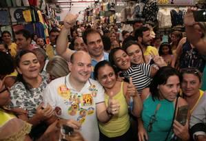 Roberto Cláudio (PDT), candidato à prefeitura de Fortaleza, visita o Mercado Central e Beco da Poeira Foto: Divulgação