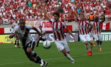 O Vasco perdeu para o Náutico na Arena Pernambuco Foto: Carlos Gregório Jr/Divulgação Vasco