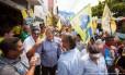 O candidato do PSDB à prefeitura de Belo Horizonte, João Leite, participa de atividade de campanha