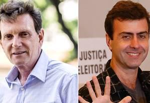 Crivella e Freixo, candidatos a prefeito do Rio na eleição de 2016 Foto: Fotomontagem / Criação / O Globo