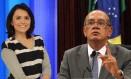 A apresentadora Monica Iozzi foi processada por causar danos morais ao ministro do STF Gilmar Mendes Foto: Agência O Globo
