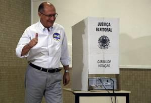 O governador de São Paulo, Geraldo Alckmin Foto: Edilson Dantas / Agência O Globo