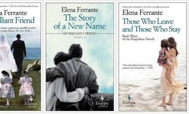 Capas de livros de Elena Ferrante Foto: Reprodução