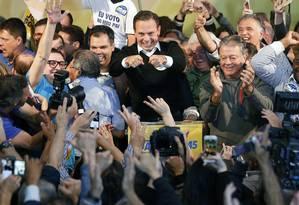 O prefeito eleito de São Paulo, João Doria (PSDB), chega a sede do diretório estadual do PSDB Foto: Leonardo Benassatto/Agência O Globo / Arquivo / 02/10/2016