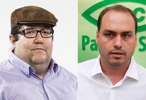 Carlos Bolsonaro, do PSC, e Tarcísio Motta, do PSOL (à esquerda) foram os vereadores que receberam mais votos no Rio Foto: Montagem/ Arquivo
