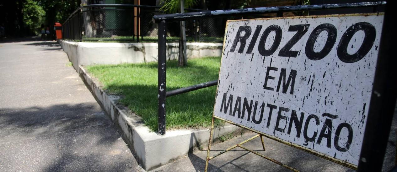 Zoologico vinha funcionando com restrições Foto: Rafael Moraes / Agência O Globo