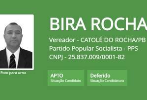Vereador eleito em Catolé do Rocha (PB) cumpre prisão preventiva Foto: Reprodução / TSE