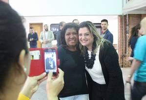 Patricia Bezerra (PSDB), à direita, foi a candidata a vereadora mais votada em São Paulo Foto: Reprodução/Facebook