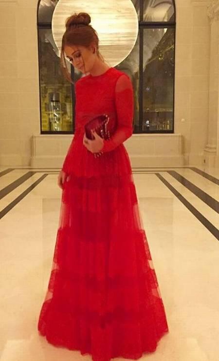 Marina usa Valentino em Paris Foto: Reprodução/ Instagram