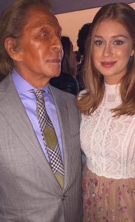 Marina posa com Valentino Garavani Foto: Reprodução/ Instagram