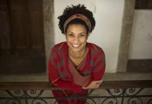 Marielle Franco, eleita para a Câmara de Vereadores do Rio Foto: Márcia Foletto