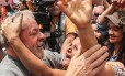 O ex-presidente Lula durante votação no primeiro turno das eleições municipais 2016