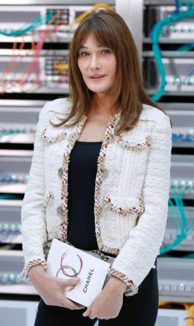 Close na beleza de Carla Bruni-Sarkozy FRANCOIS GUILLOT / AFP