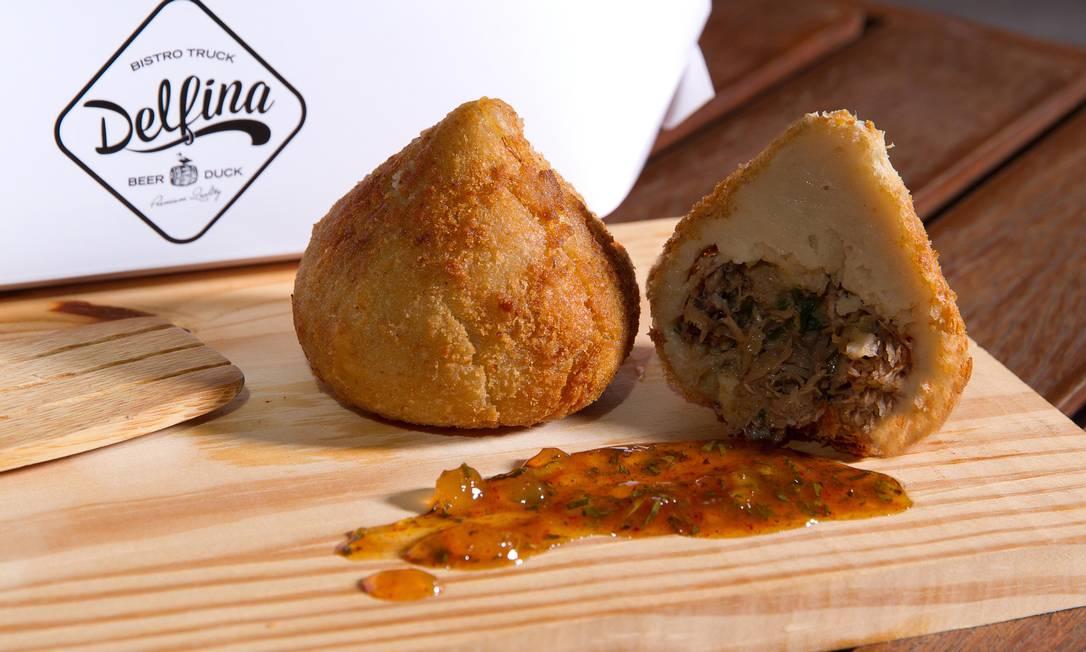 A famosa coxinha de pato do food-truck Delfina vai estar no Rio Gastronomia Rafael Germano / Divulgação