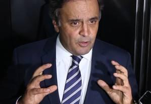 O Presidente Nacional do PSDB, Senador Aécio Neves (PSDB-MG) Foto: Ailton de Freitas / Agência O Globo/27-9-2016