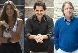 Matilde Campilho, José Eduardo Agualusa e Mia Couto: finalistas do prêmio Oceanos 2016 Foto: Divulgação