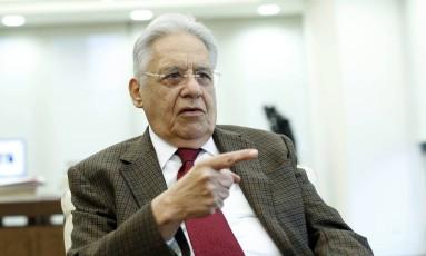 Ex-presidente Fernando Henrique Cardoso Foto: Edilson Dantas / Agência O Globo/19/05/2016
