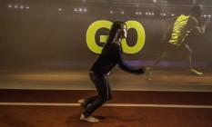 Simulador que permite apostar corrida com Usain Bolt é a atração mais procurada do museu, que é repleto de recursos interativos Foto: Ana Branco / Agência O Globo