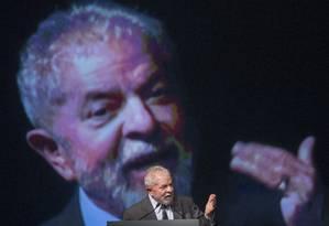 Lula discursa na abertura da International Global Union, no Rio de Janeiro. Foto: Antonio Scorza/ Agencia O Globo Foto: Antonio Scorza / Agência O Globo