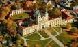 Visão geral da igreja barroca de Kopecek, em Olomuc, República Tcheca