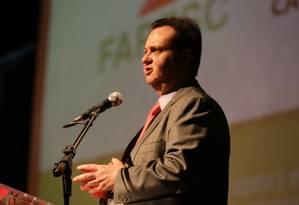 O ministro da Ciência, Tecnologia e Comunicações, Gilberto Kassab (PSD), durante evento sobre inovação, em Florianópolis Foto: Ricardo Fonseca/Divulgação