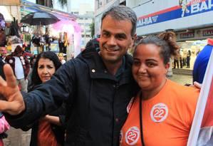 O candidato do PR à prefeitura de Nova Iguaçu, Rogério Lisboa, durante a campanha eleitoral Foto: Divulgação